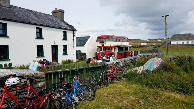 Inishwallah food truck Inishbofin island