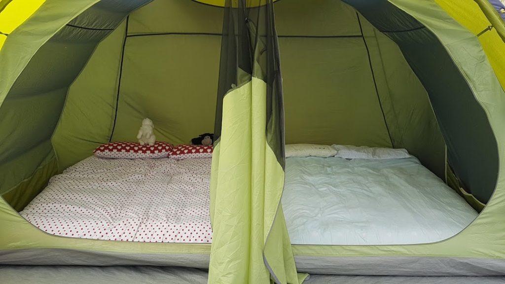 Vango Iris family tent sleeping area