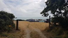 Dunmore East holiday park entrance tent field