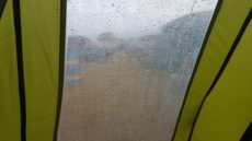 Dunmore East holiday park wet day