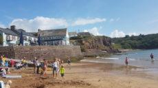 Dunmore east Strand Bar busy beach