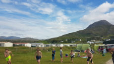 Family camping Connemara